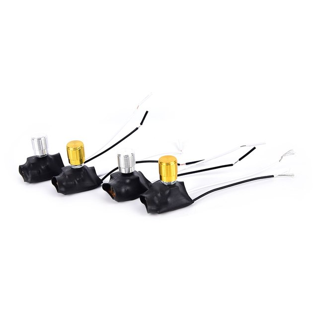 1pcs Dimmer Switch Gold, Silver Tone Table Lamp Full Range Dimmer Rotary Switch 2 Wire Connector