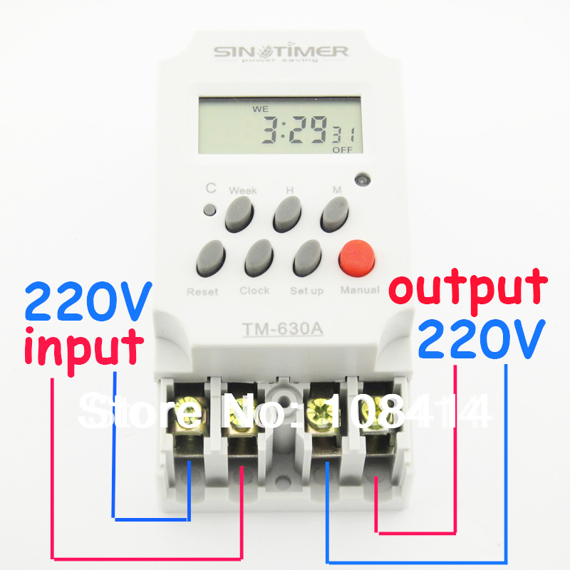 30amp 220v Ac Mini Digital Timer Switch 7 Days