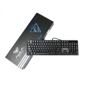 Image 5 - AULA Wired Mechanical Keyboard 104 Keys Anti ghosting Red Switch gaming keyboard Green Backlight Game Keyboard #AK2053