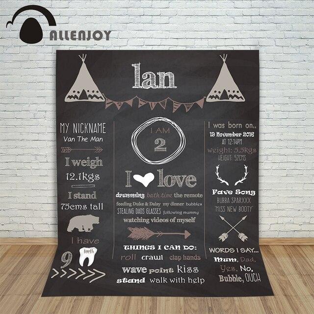 Allenjoy Christmas Photography Backdrops Custom Made Blackboard