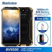 Blackview BV9500 10000mAh IP68 Waterproof 5.7inch FHD 18:9 MT6763T Octa Core Smartphone 4GB + 64GB 16.0MP Camera Android 8.1