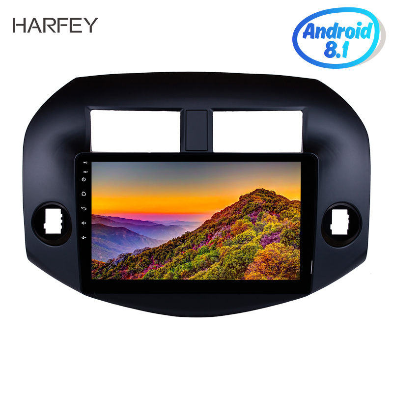 "Harfey 10.1"" 2Din Android 8.1 Radio Audio GPS Navi Stereo Wifi car Multimedia Player Head Unit For 2007-2011 Toyota RAV4"