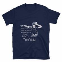 Fashion Classic MenS Short Short-Sleeve Tom Waits Dance Bones Unisex Zomer O-Neck T Shirts