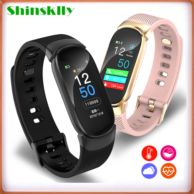 Smart Fitness Bracelet Pedometer Watch Fitness Tracker Band Blood Pressure Measurement Heart Rate Monitor Wristband Men Women