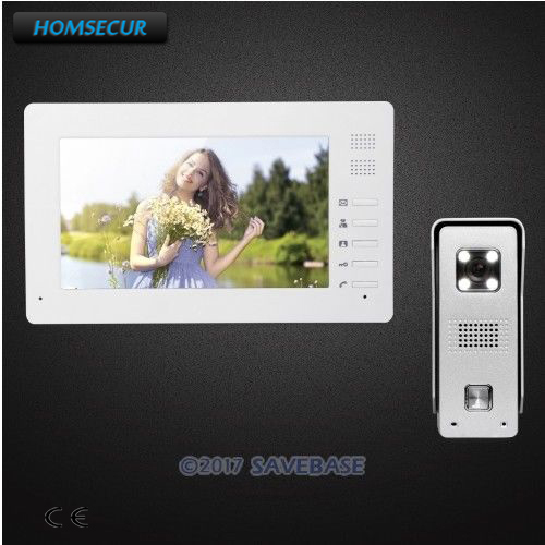 """HOMSECUR 7"""" Video Security Door Phone with Intra-monitor Audio Intercom for Home Security"""