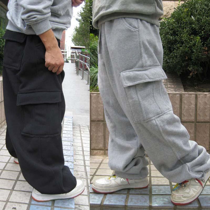 Utral Plus Size Sweatpants Hip Hop Dance Mens Trousers Pants Casual Joggers Loose Cargo Pants Wide Leg Polyester Male Clothing