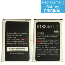 3.7V 2000 mAh Replacement Battery For Prestigio Muze A5 PSP5502 PSP 5502 DUO Bateria Batterie Cell Phone Original Batteries