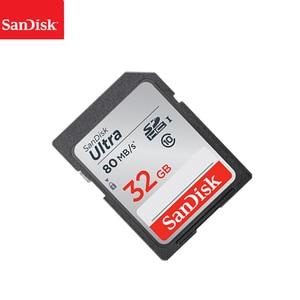 Image 4 - 100% SanDisk Ultra 16GB 32GB 64GB 128GB classe 10 carte SD SDHC SDXC carte mémoire C10 80 mo/s carte sd prise en charge vérification officielle