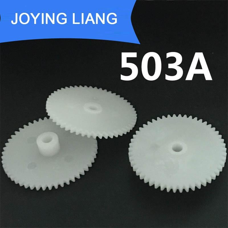 503A 0 5M 50 Teeth 3mm shaft tight pom plastic pinion gear toy model gear 1000pcs
