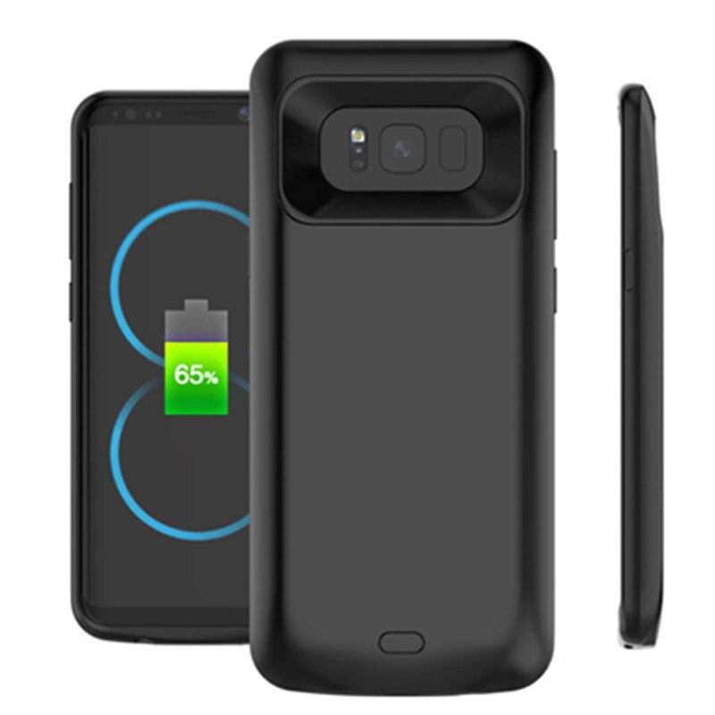 imágenes para Para Samsung Galaxy S8/S8 PLUS cargador de batería caso, GagaKing Cargador de Batería de Reserva Externa del Banco de Energía Recargable Para G950