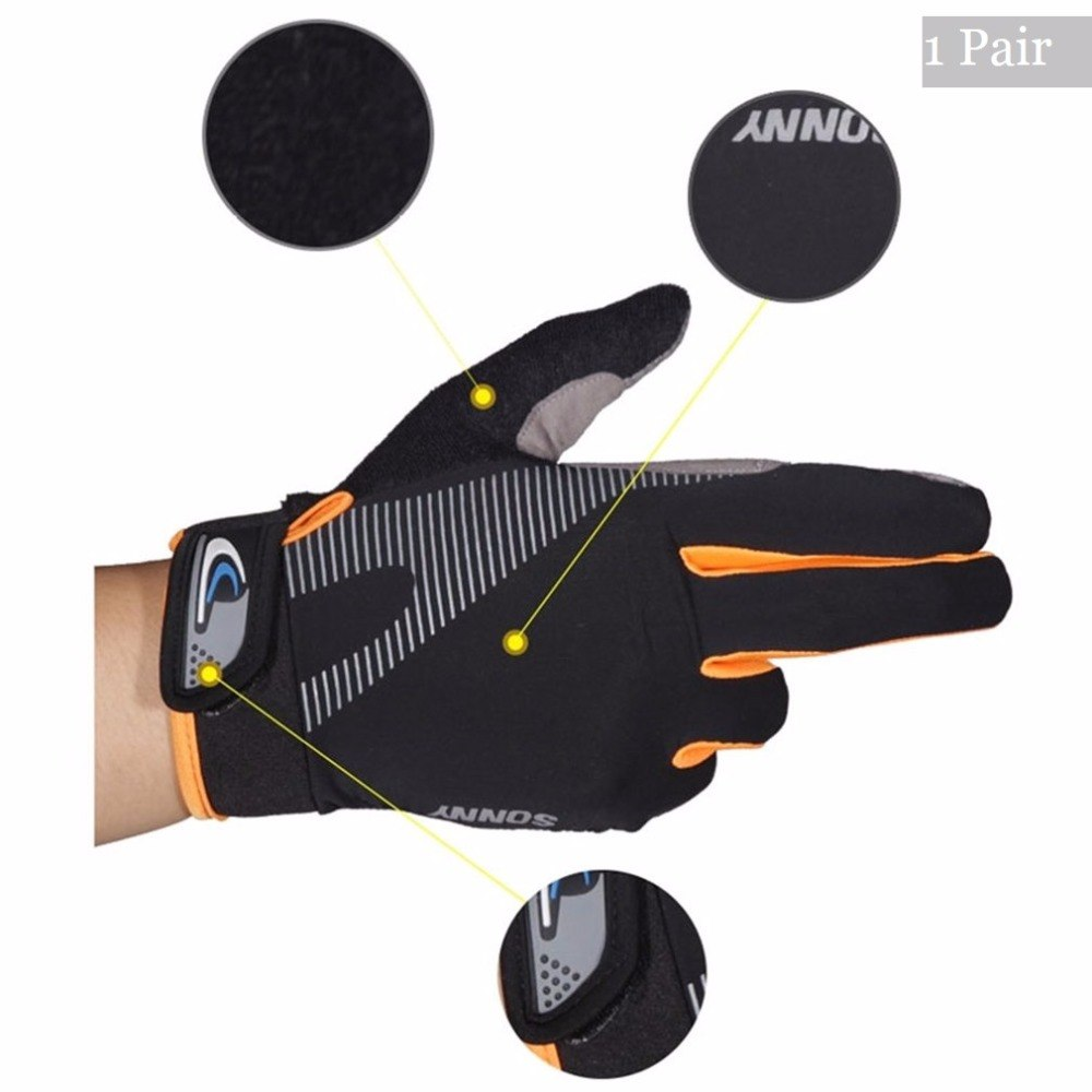 1 Pair NEW Full Finger Touch Screen Cycling Gloves Bicycle Gloves High Elasticity Outdoor Breathable Anti-slip Gloves