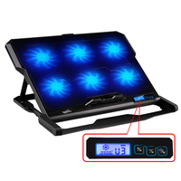 Laptop Cooler 2 USB Ports And Six Cooling Fan Laptop Cooling Pad Notebook Stand For 14