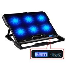 """TopMate Laptop kühler 2 USB Ports und Sechs lüfter laptop cooling pad Notebook stand Für 14,6 """"-16"""" leuchte für laptop"""