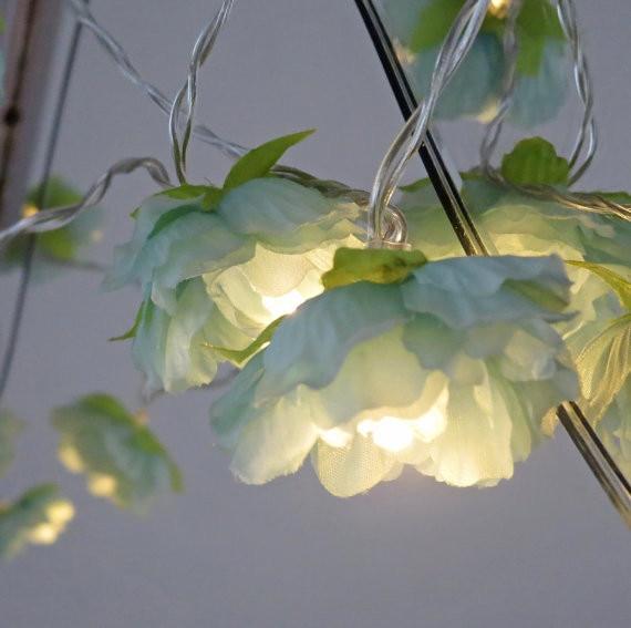 1.5 m 10 LED fleurs fleurs guirlandes guirlandes avec batterie AA - Éclairage festif - Photo 2