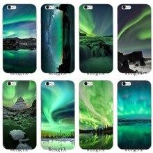 c64188ef768 green iceland northern lights landscape Soft phone case For Sony xperia XA  Z Z1 Z2 Z3