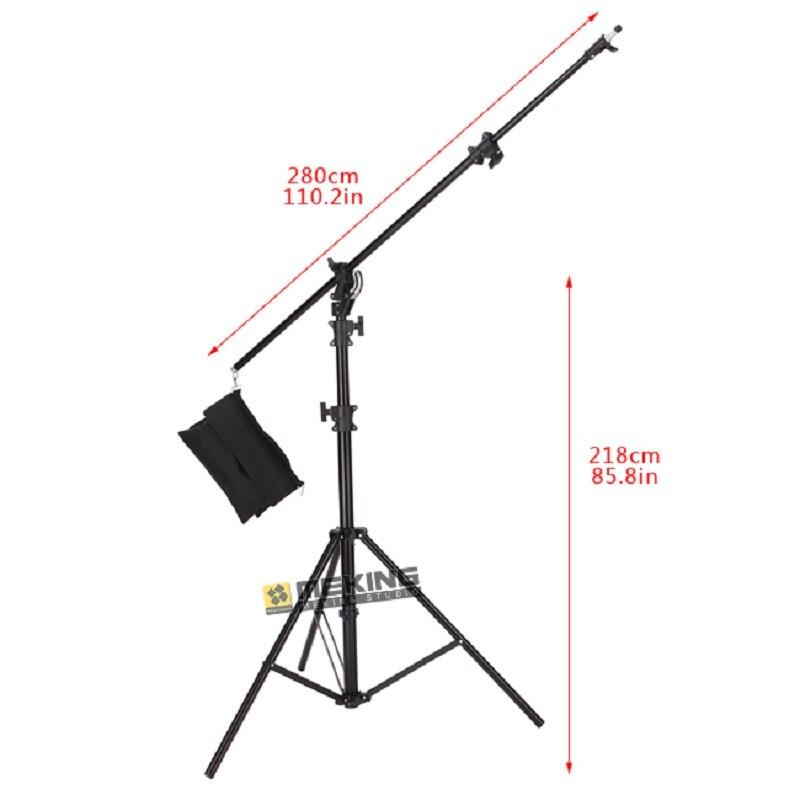 5 M lumière support trépied robuste éclairage Boom support Photo studio support système pour Photo Studio vidéo Flash parapluies réfléchir-in Accessoires pour studio photo from Electronique    2