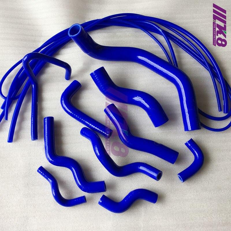 Tuyau SILICONE pour NISSAN SILVIA 200SX 240SX S13 S14 S15 SR20D + Kit tuyau d'aspiration (13 pièces) rouge/bleu/noir