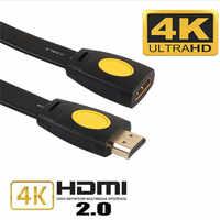 Soonhua superior hdmi extensão cabo versão 2.0 macho para fêmea hdmi estender cabo 4 k 3d hdmi cabo estendido para tv caixa portátil