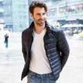 AirGracias Leves Dos Homens Para Baixo Casaco de 95% de Pato Branco Para Baixo Jaqueta de Inverno Engrossar Casaco Quente Roupas de Marca Dos Homens Para Baixo Parka