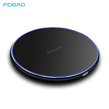 FDGAO 15W Super Fast Wireless Charger For Samsung S9 S10 iPhone X XS MAX XR 8 Huawei P30 Pro Qi Quick 10W Wireless Charging Pad