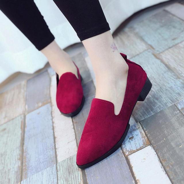 2019 Spring Women Loafers Flats Shoe Women Casual Shoes Suede Slip on Boat shoes Female Shoe Comfortable Ballet Flats Size 35-40 2