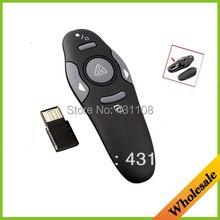 En gros Drop Shipping RF 2.4 GHz Sans Fil USB PowerPoint PPT Présentation Presenter Mouse Télécommande Pointeur Laser Stylo