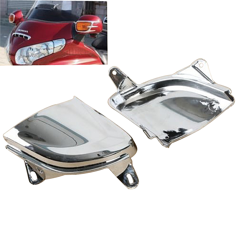 Front Chrome Headlight Cover Trims case for Honda Goldwing GL1800 2006-2014 chrome motorcycle front fairing headlight lower grill case for honda goldwing 1800 gl1800 2001 2011