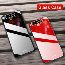 Mirror PC+TPU+Plexiglass Phone Case For iPhone Max XR X 8 7 6 6s Plus Soft Edge XS Solid Color Cover Coque New