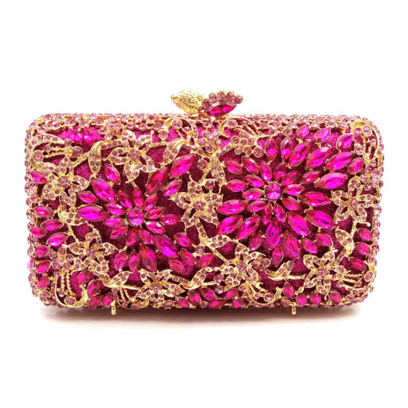 Detail Feedback Questions about 2018 Luxury Crystal Clutch Women Evening  Bags With European And American Style Full Diamond High End Handmade Women s  Clutch ... 9de566319e74f