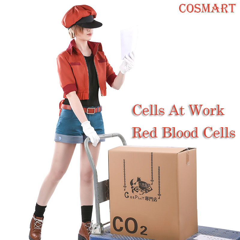 [Stock]New 2018 Amine Cells At Work Erythrocite Red Blood Cell Cosplay C For Halloween Carnival full set Free Shipping