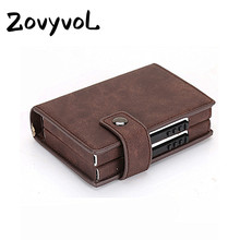 ZOVYVOL Double Card Wallet Aluminium RFID Blocking Metal WOMEN Holder Credit Case Women Men ID Side Push