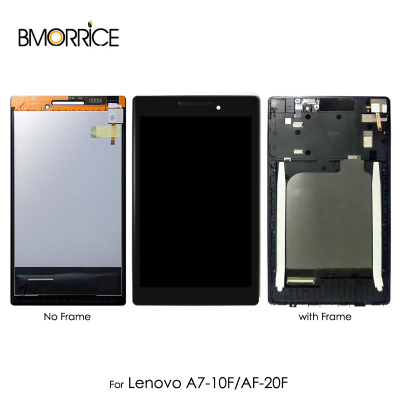 Novel Designs Lcd Display For Lenovo Tab 2 A7-10 A7-10f A7-20 A7-20f Touch Screen Digitizer With Frame Full Assembly Replacement 7 Inch Black Famous For Selected Materials Delightful Colors And Exquisite Workmanship