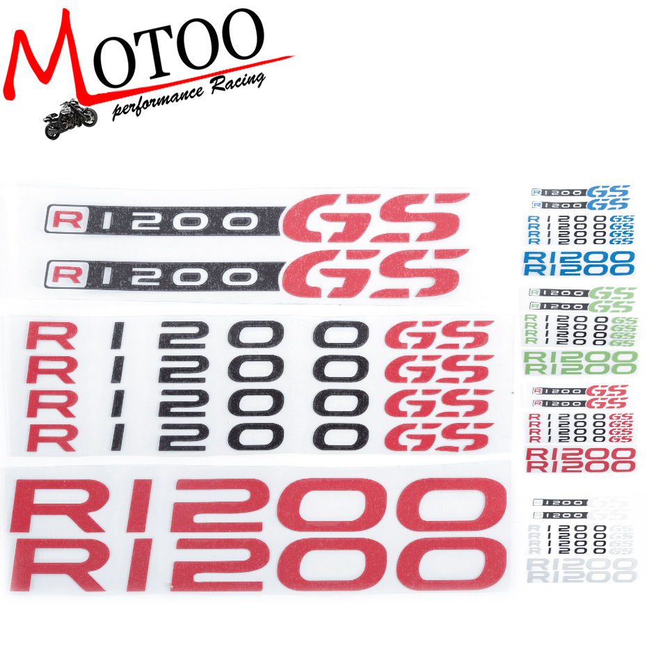 Motoo - For BMW R1200GS R1200 GS R 1200 GS Motorcycle Fuel Tank Wheels Fairing Notebook Luggage Helmet  Sticker Decals