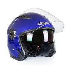 Jiekai 512 Half Face motorcycle Helmet with dual lenses Capacete Para