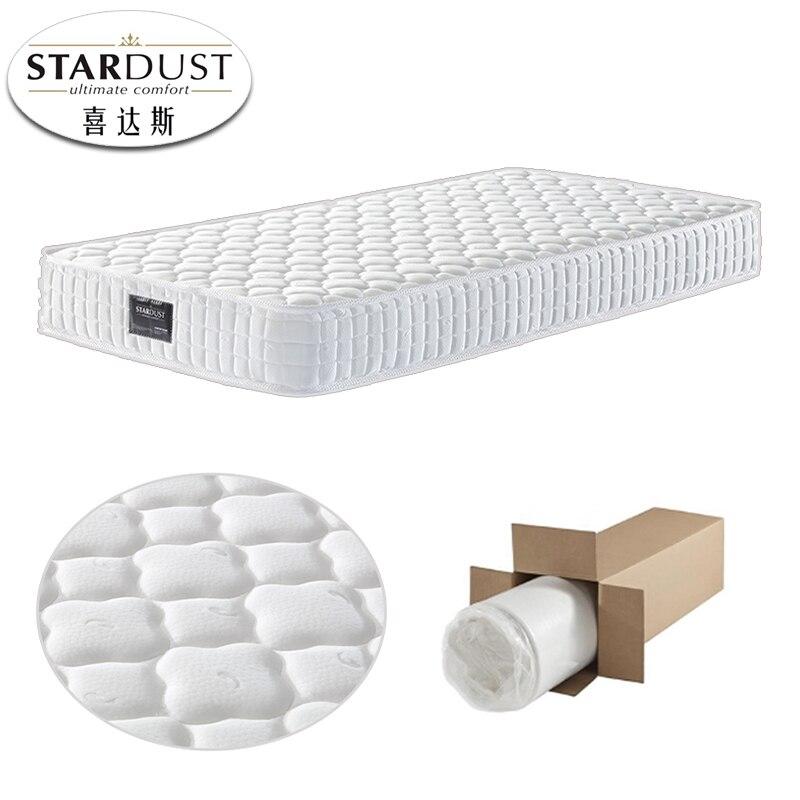 Manufacturer Customized Roll Up Pocket Spring Mattress For Star Hotel