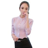 Chiffon Women Blouses O Neck Slim Long Sleeve Shirts Plus Size 2017 Vintage XXXL 4XL Blusas
