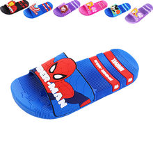 Disney Shoes Flip Flop New 2019 For Kids Mickey Boys Girls Summer Marvel Cartoon Comfortable Casual Flat Heels Shoes Size 24-39(China)