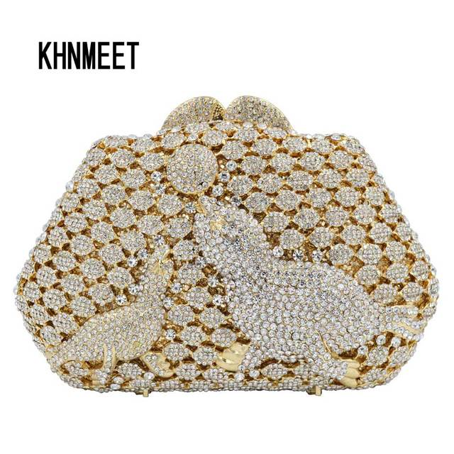 7d8b2e0c7d433 Fashion Gold Silver Dolphin Ball Clutch bag Fashion Women Party Wedding  Bride Purse Femme Famous Evening shoulder Bag