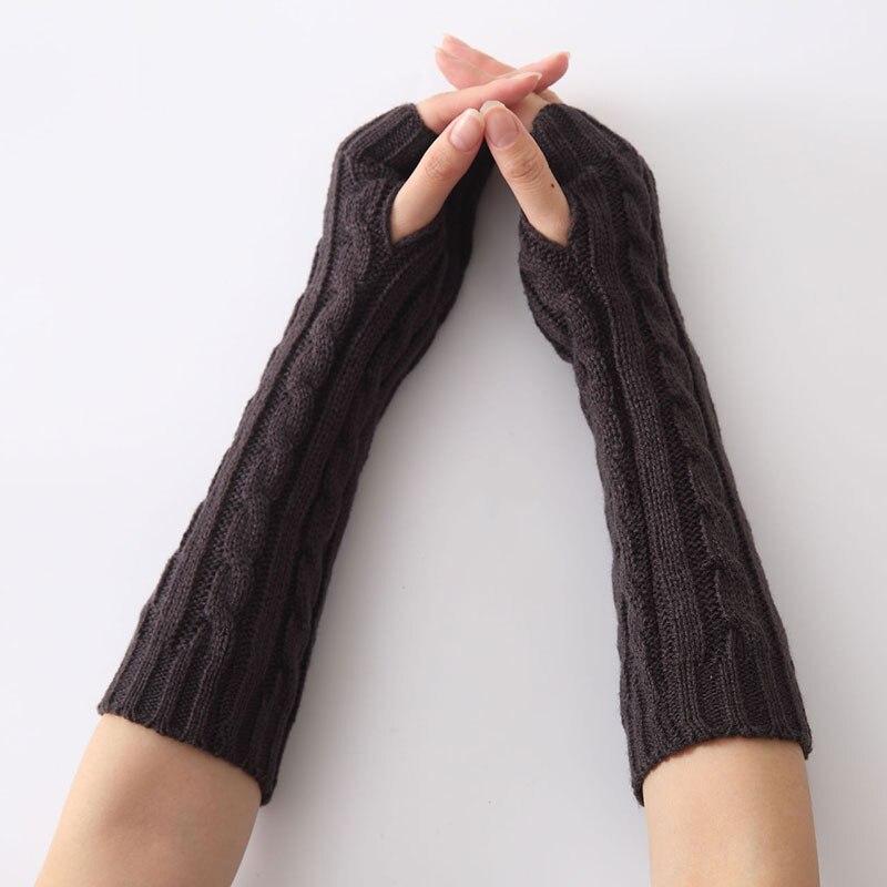 Bekleidung Zubehör Stetig 1 Paar Lange Braid Kabel Stricken Finger Handschuhe Frauen Handmade Fashion Weichem Gauntlet Praktische Casual Handschuhe M8694