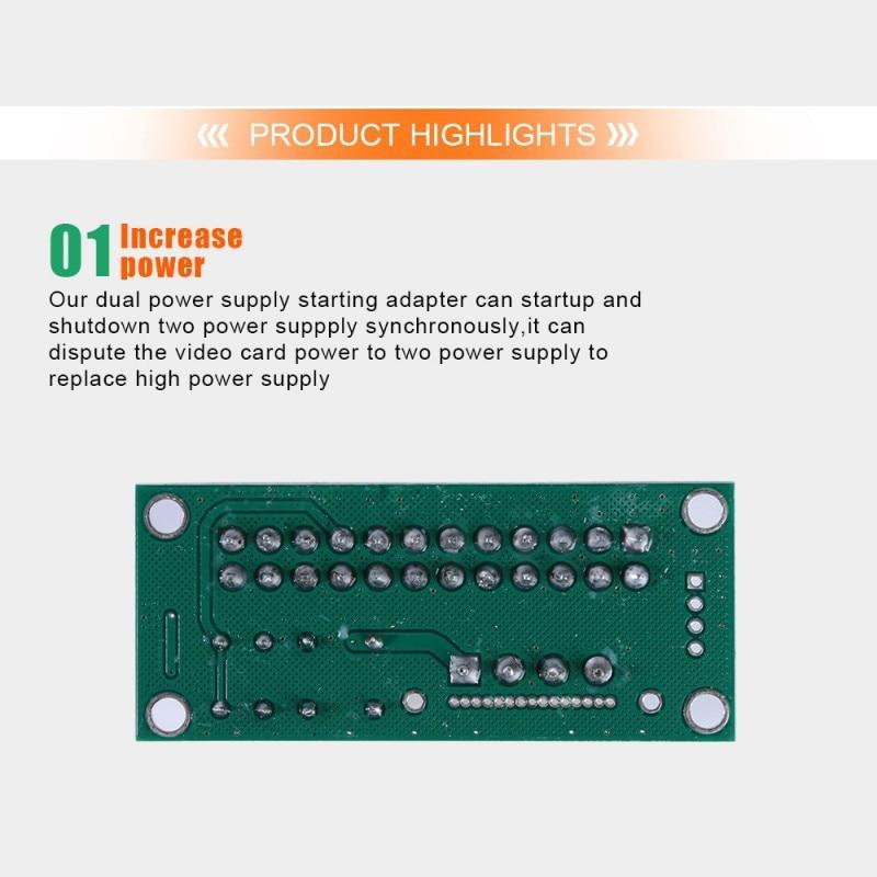 Tonysa ATX24PIN Power Board 24PIN Synchronous Start Power Circuito de Transistor de Alto Rendimiento Placa de alimentaci/ón s/íncrona con Luces LED