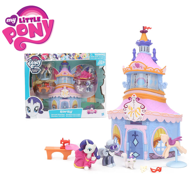 My Little Pony Toys Friendship Is Magic Collection Rarity Carousel Boutique PVC Action Figure Playet Model Pony Dolls for Girls lovely action figure model cartoon characters rarity kunai toys dolls christmas little gift