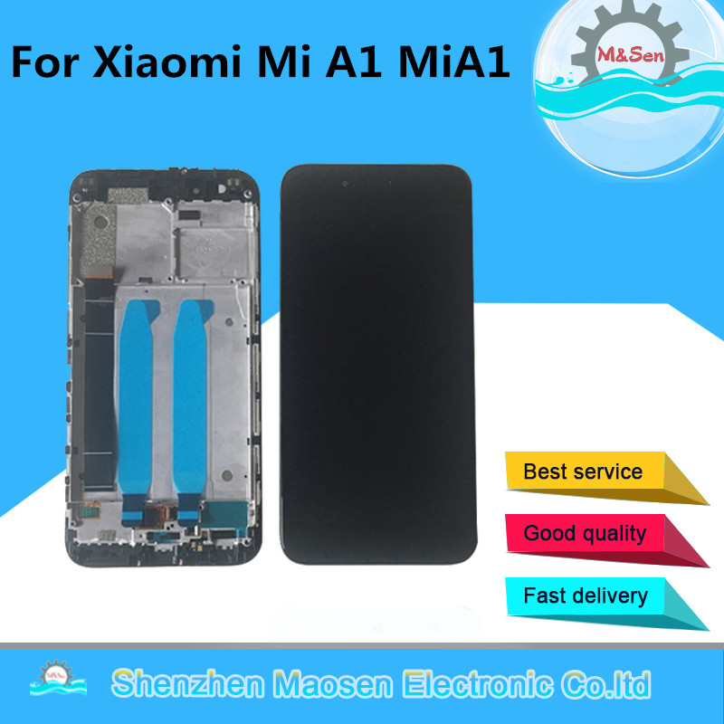 Original M&Sen For Xiaomi Mi A1 MiA1 LCD screen display+ Touch screen digitizer with frame for For mi A1 5X lcd display screen