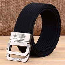 2019 New Nylon Canvas Belt Men Army Tactical Belts Selling Male Outdoor Sport Double Buckle Weave Nylon Canvas Cowboy Pants Belt