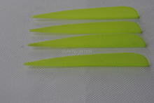 Light yellow 4 inch plastic vane vein 100 pieces for DIY arrow crossbow bolt accessories hunting shooting archery bow outdoor
