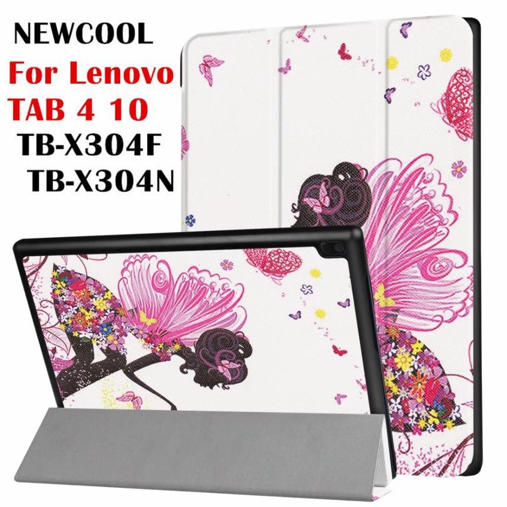 Tab4 10 TB-X304 Cartoon Paint Smart Leather Case for Lenovo TAB 4 10 TB-X304F TB-X304N Flip Cover tablet Case Protective shell ножницы для живой изгороди 10 truper tb 17 31476