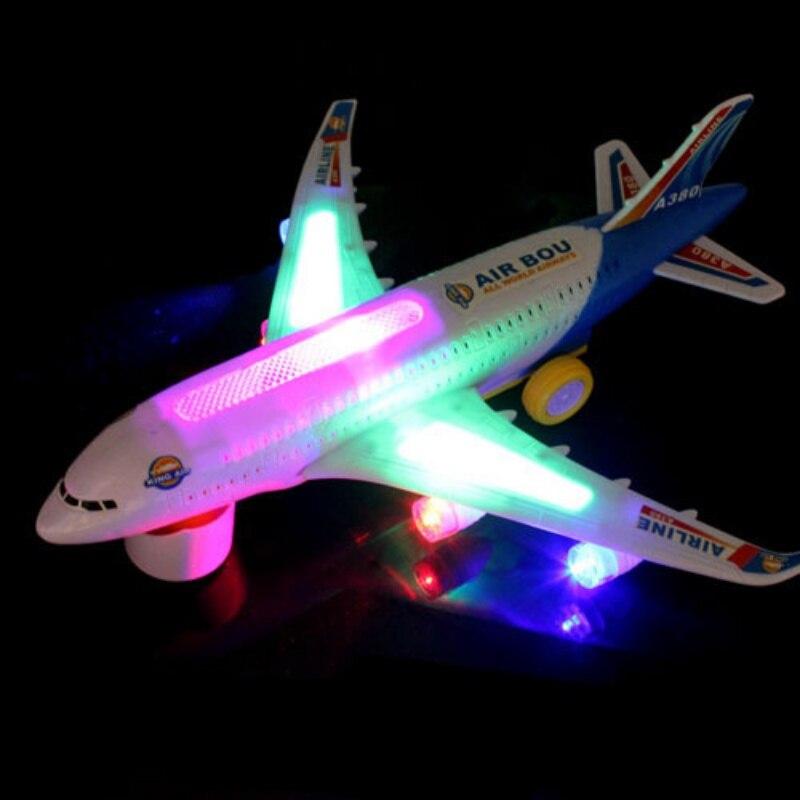 Nuova Luce Universale di Musica Airbus A380 Modello di Aereo Lampeggiante Suono Aereo Elettrico Per Bambini Giocattoli Per Bambini Regali di Sterzo AutomaticoNuova Luce Universale di Musica Airbus A380 Modello di Aereo Lampeggiante Suono Aereo Elettrico Per Bambini Giocattoli Per Bambini Regali di Sterzo Automatico