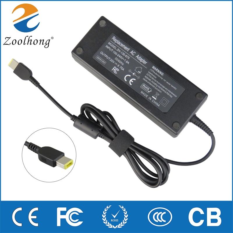 135 W 20 V 6.75A Laptop Adaptador AC Carregador de Lenovo IdeaPad Y50 ADL135NDC3A 36200605 45N0361 45N0501 Y50-70-40 t540p