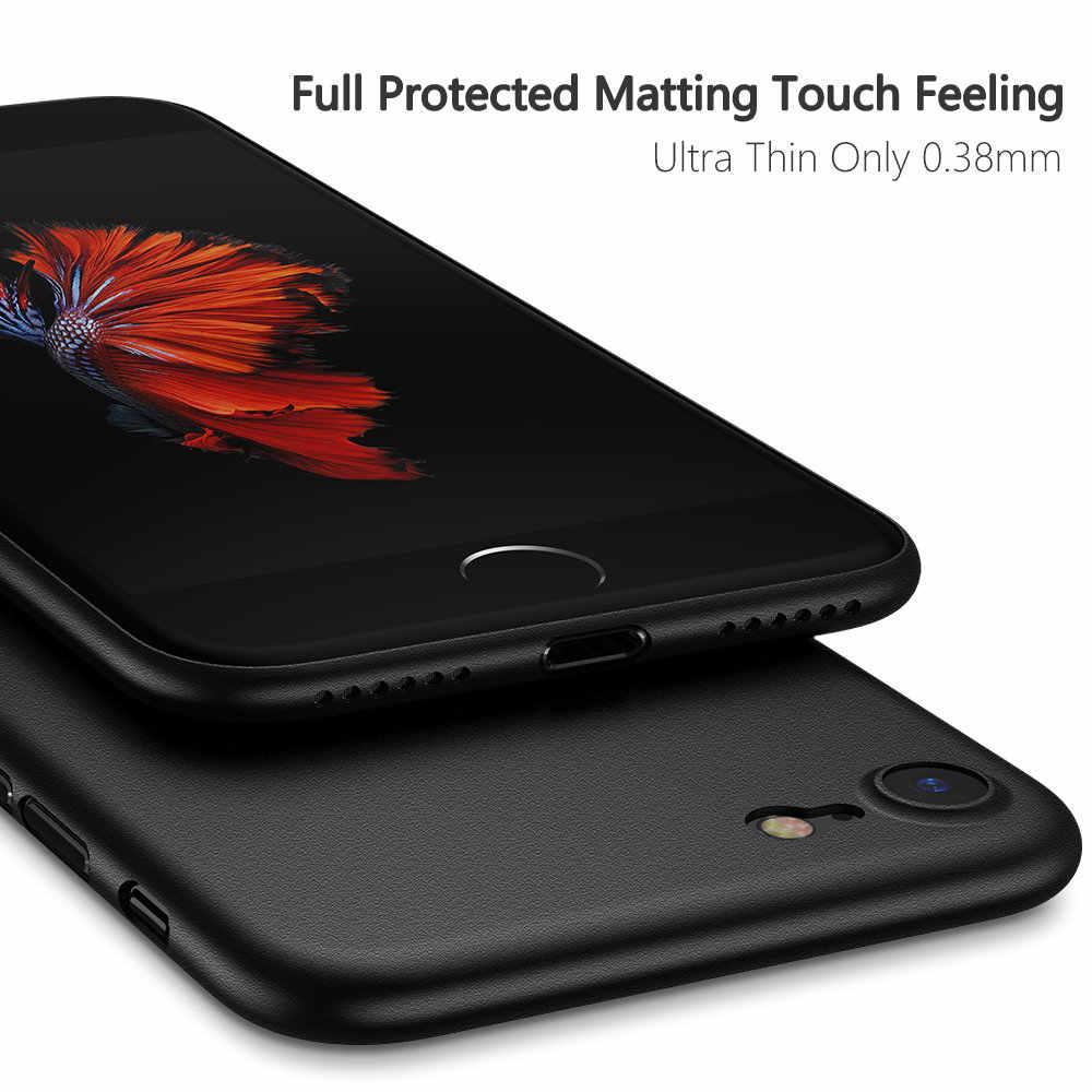 KISSCASE cukierki kolorowa obudowa na telefon dla iPhone 6 6s 7 8 Plus Ultra cienki matowy PC etui na telefon dla iPhone X XR XS Max Fundas