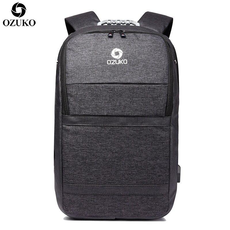 OZUKO New Men Business Backpacks For 15.6