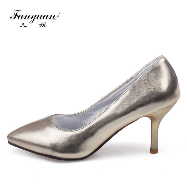 c7e3c1c49e7 Fanyuan New Fashion Large size 30-45 ladies shoes stilettos sexy Pointed  toe high Pencil heel Party wear shoes for women zapatos
